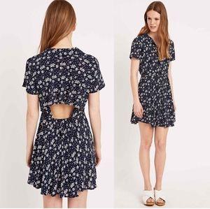 UO kimchi blue floral batik print button up dress